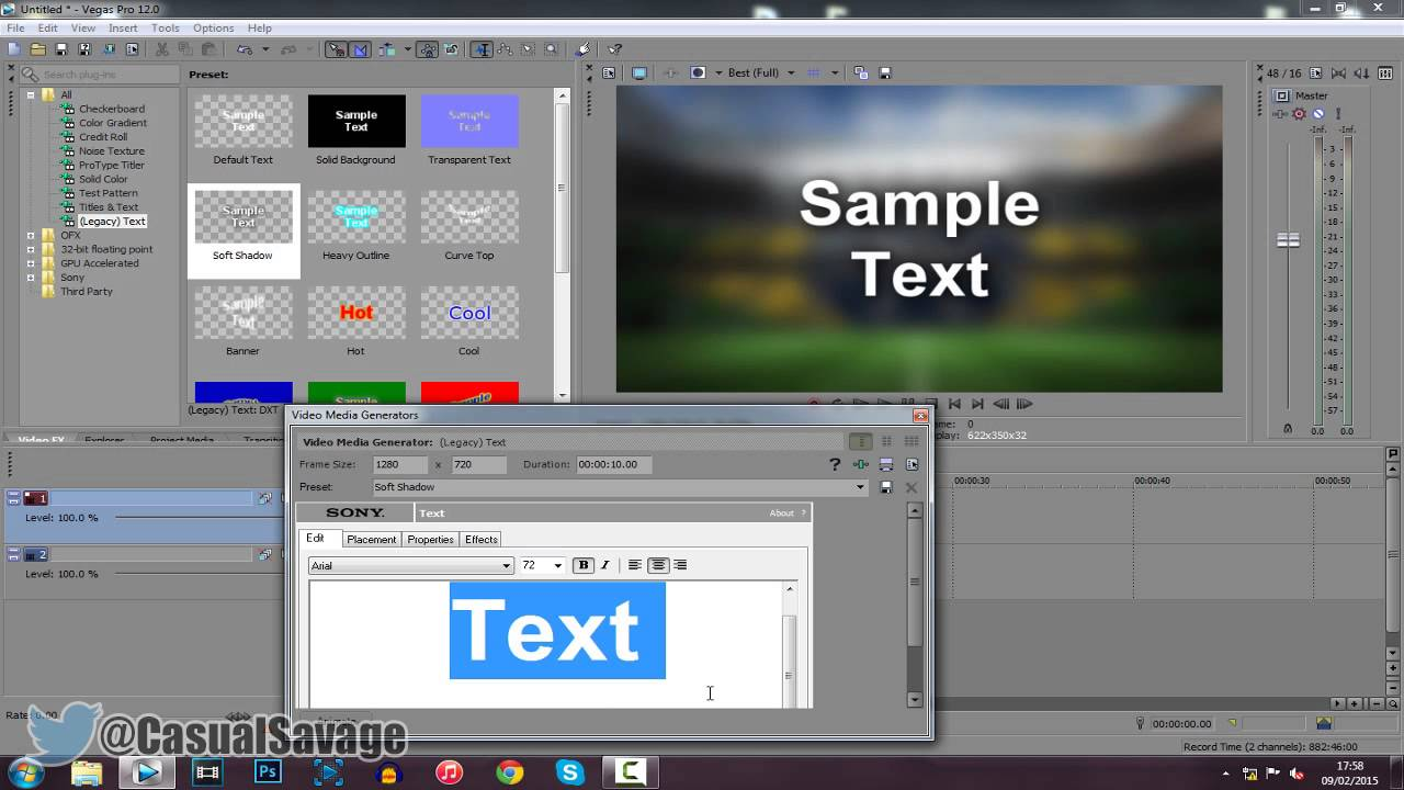 How To: Blur Background In Sony Vegas Pro 11, 12 And 13