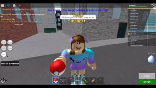 trying out the roblox version of pokemon go