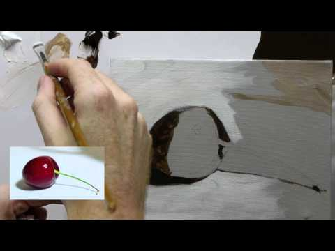 Beginners Acrylic Still Life Painting Techniques demo – Part 2a