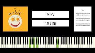 Sia - Play Dumb (BEST PIANO TUTORIAL & COVER)