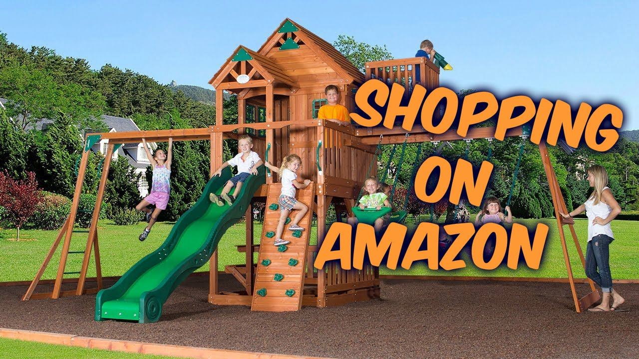 shopping on amazon backyard discovery skyfort ii all cedar wood