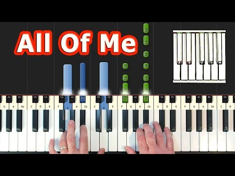 John Legend - All Of Me - Piano Tutorial - How To Play (Synthesia)