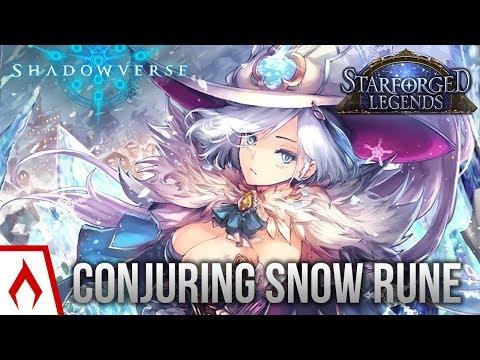 [Shadowverse] Let It Snow - Conjuring Force Runecraft Deck Gameplay (Sponsored)