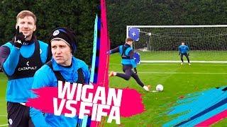 Can Windass nail a top bin penalty?!? | WIGAN VS FIFA