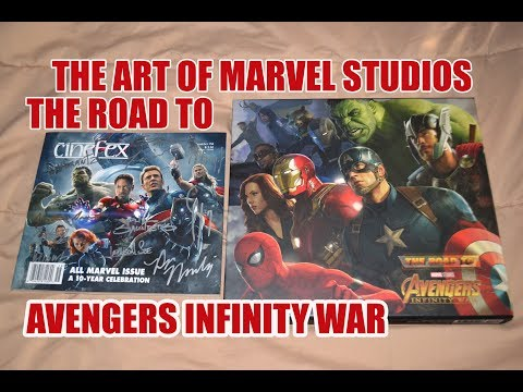 THE ART OF Marvel Studios ROAD TO AVENGERS: INFINITY WAR BOOK review! CINEFEX PREVIEW