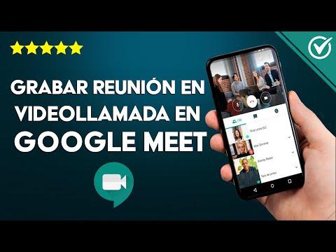 Cómo Grabar una Reunión o Clase en Videollamada en Google Meet si no Aparece