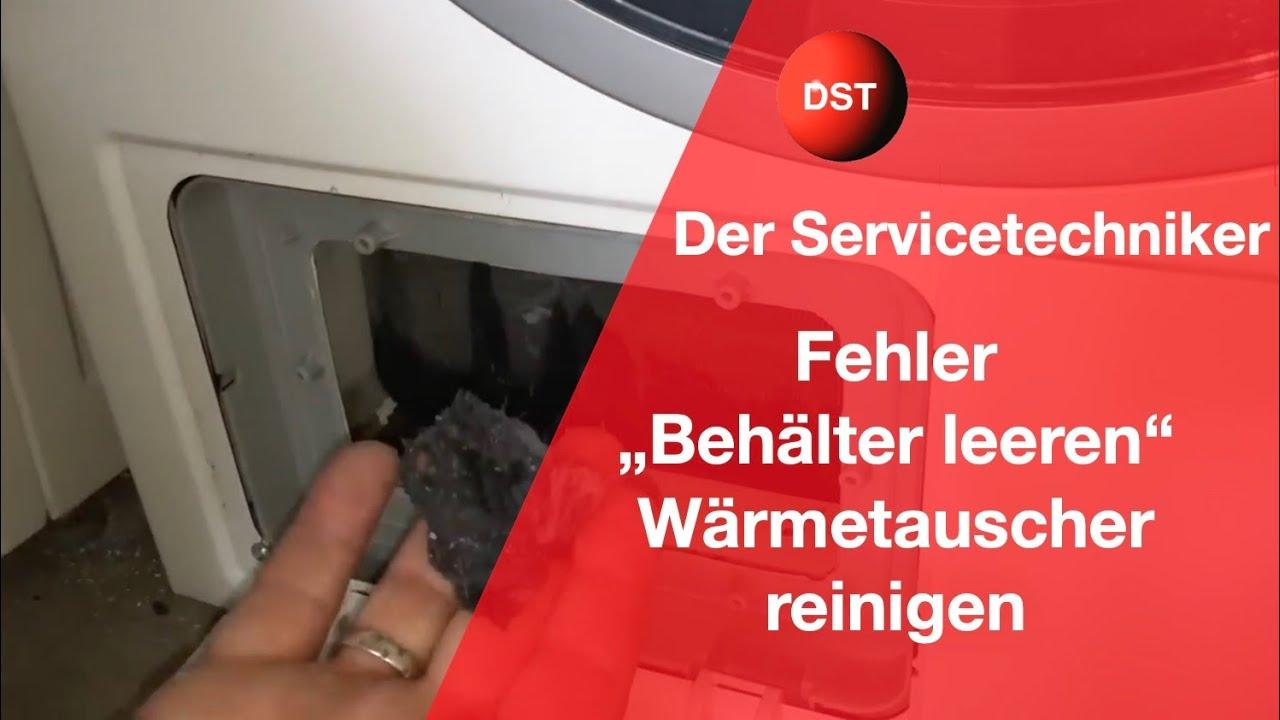 Bosch, Siemens Wrmepumpentrockner Wrmetauscher reinigen ...