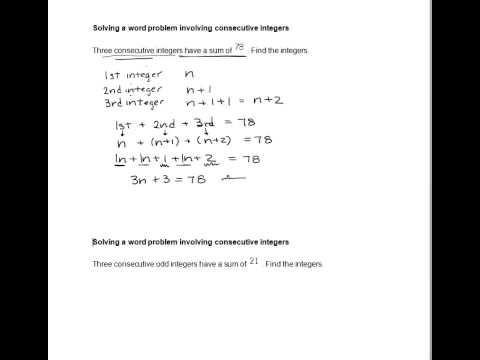Consecutive Integers Worksheet With Answers - integer word ...