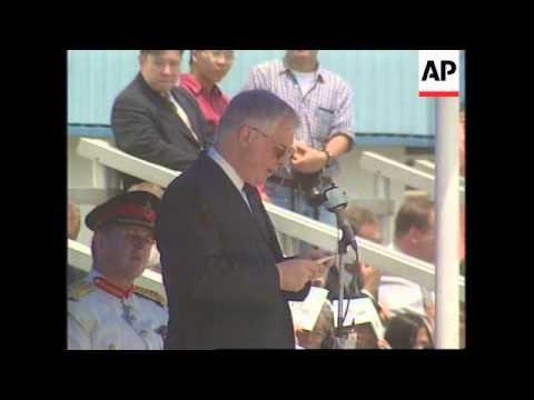 HONG KONG: BRITISH NAVY BASE HMS TAMAR DECOMMISSIONED