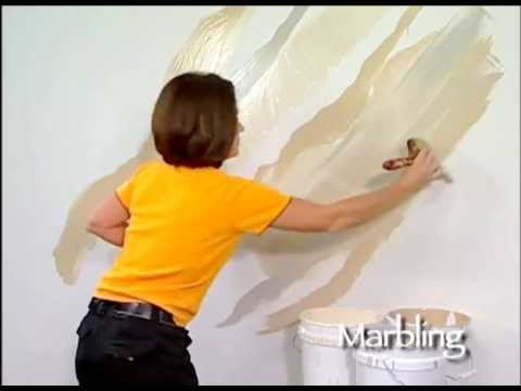 Marbling How To Faux Finish Painting by The Woolie (How To Paint Walls) #FauxPainting