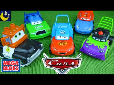 Thumbnail: Disney Cars Mix and Match Mega Bloks Toys! Dinoco Lightning Mcqueen Mater Funny Toy Videos for Kids!