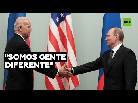 """Putin responde a los insultos de Biden: """"Tenemos diferentes códigos genético, cultural y moral&"""