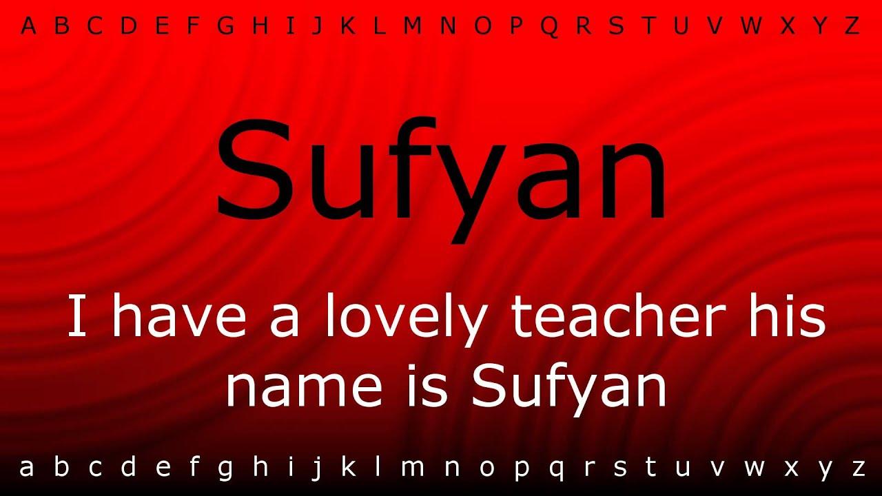 sufyan ali name