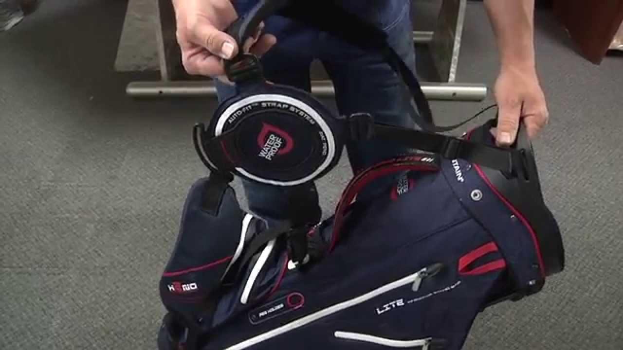 How To Adjust Golf Bag Shoulder Straps Youtube