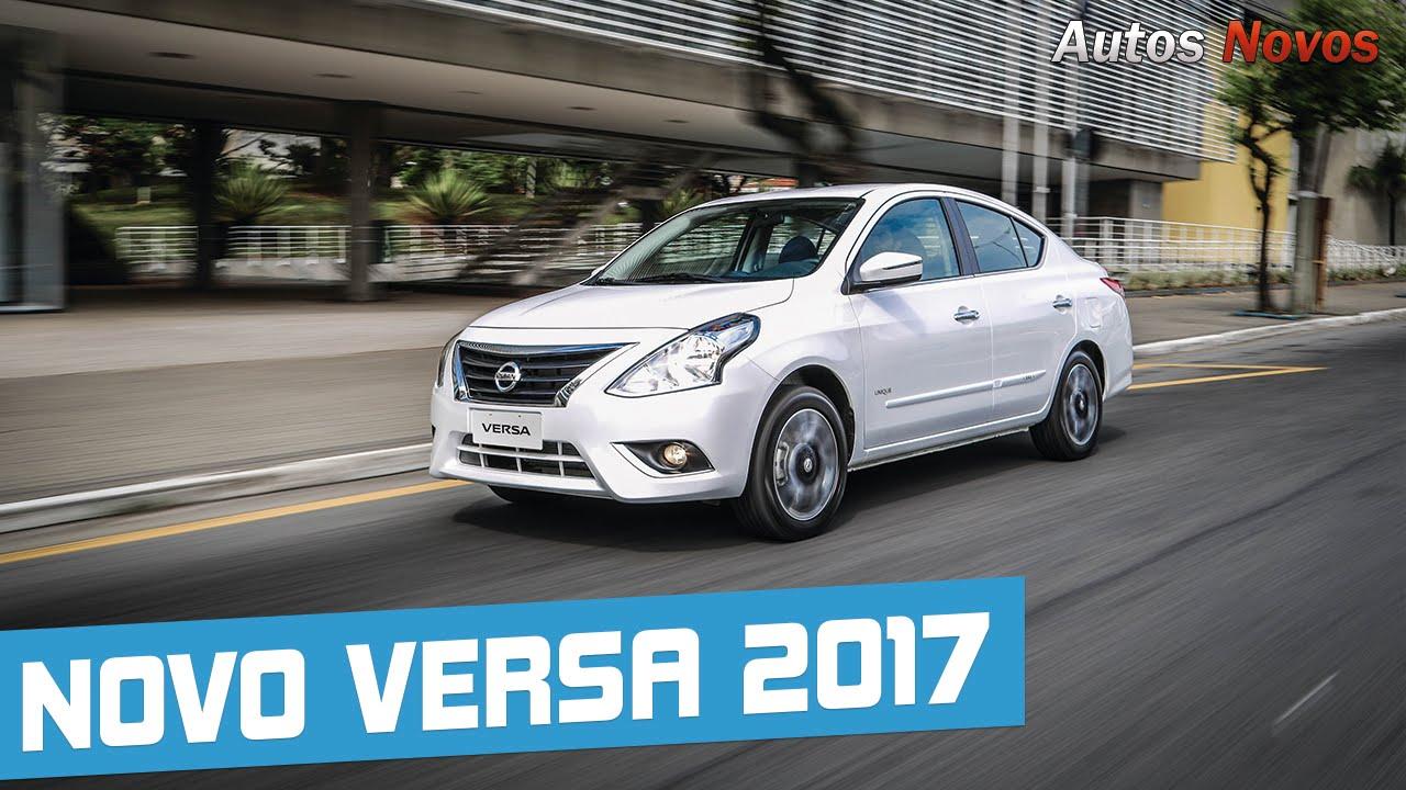 Novo Nissan Versa 2017 Em Detalhes Autos Novos Youtube