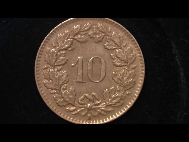 Confederatio Helvetica 10 Coin dated 1964