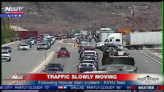 SUSPECT IN CUSTODY: After barricading self in armored vehicle at Hoover Dam (FNN)