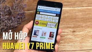 Mở hộp Huawei Y7 Prime - Điểm nhấn trên thiết kế, màn hình và cấu hình