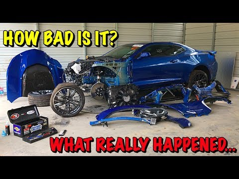 Rebuilding A Wrecked 2018 Camaro ZL1 Part 2