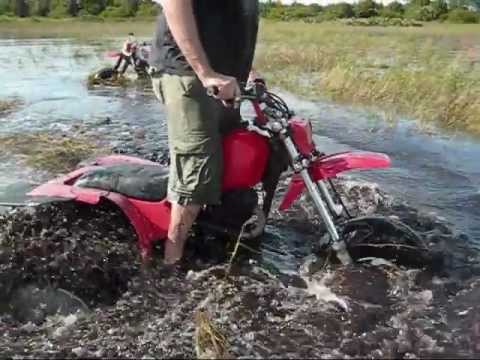Deep water & mud bogging, ATC 250sx, three wheeler bigred