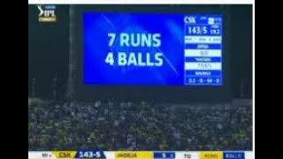 Mumbai Indians VS Chennai Super Kings IPL 2019 final last over Highlights
