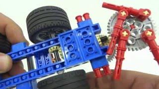 Lego 9686. Mecanismos simples y motorizados. Combinando engranajes