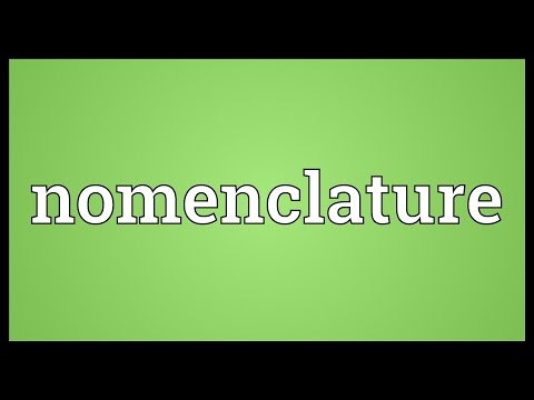 Nomenclature Meaning