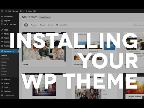 07 Installing a purchased WordPress theme
