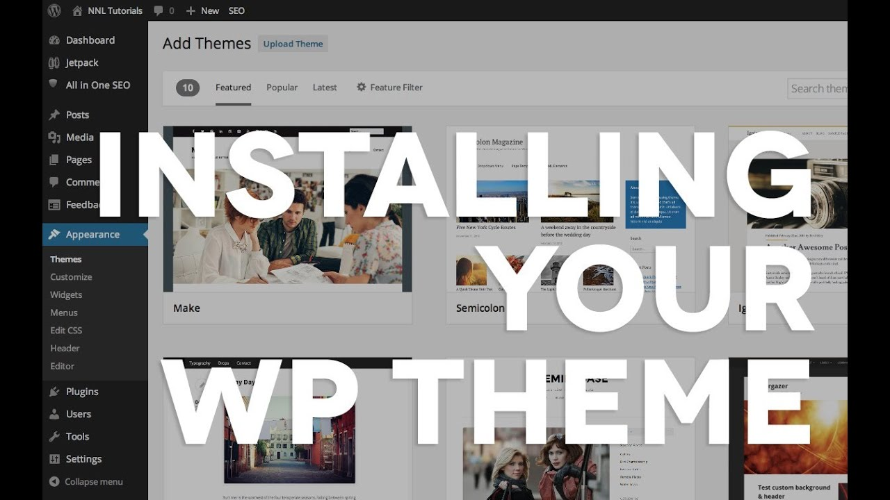 07 Installing a purchased WordPress theme - YouTube