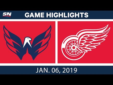 NHL Highlights | Capitals vs. Red Wings- Jan. 6, 2019