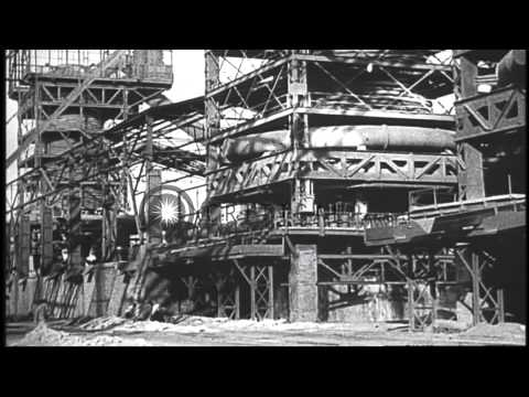 Steel making; Italian heavy artillery being manufactured during World War I HD Stock Footage