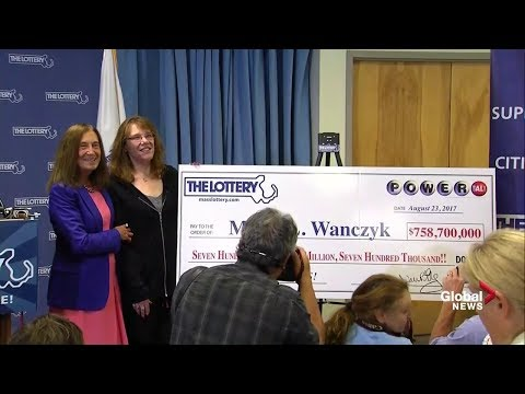 Winner of $750 million Powerball Lottery news conference