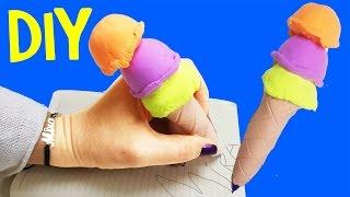 Zıp Zıp Oyun Hamuru ile Dondurma Kalem Yapımı | Eğlenceli Çocuk Videosu