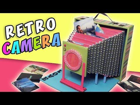 ALBUM RETRO CAMERA - DIY Love Gift - Cardboard Vintage Camera   aPasos Crafts DIY