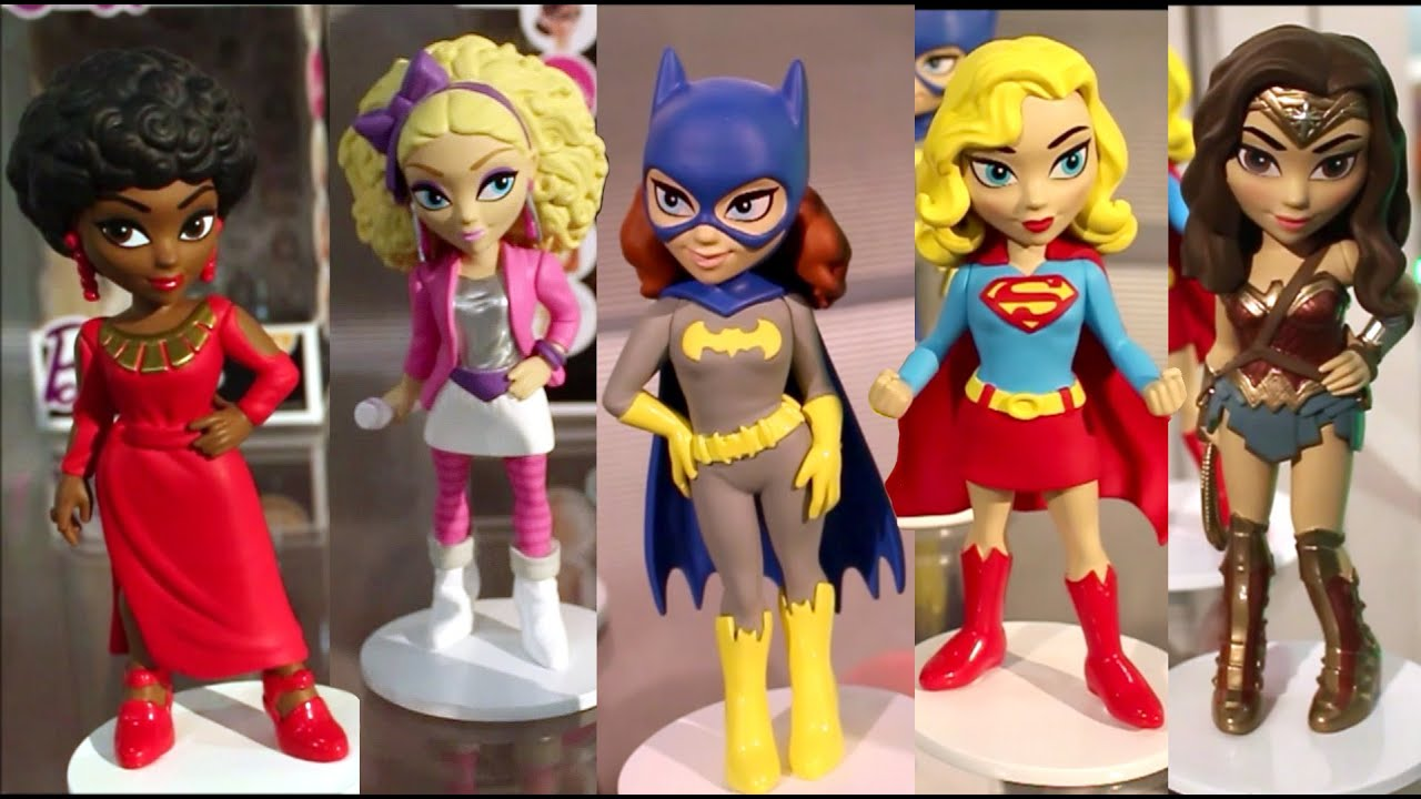 2016 new york toy fair funko rock candy figures barbie dolls dc comics