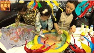 엄마 화났다! 엉망진창 물감놀이. 색칠놀이  learn color l kids color paints play l home schooling