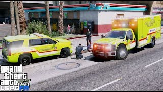 GTA 5 LSPDFR EMS #31 |Play As A Paramedic Mod| San Andreas Fire Rescue Ambulance & Supervisor