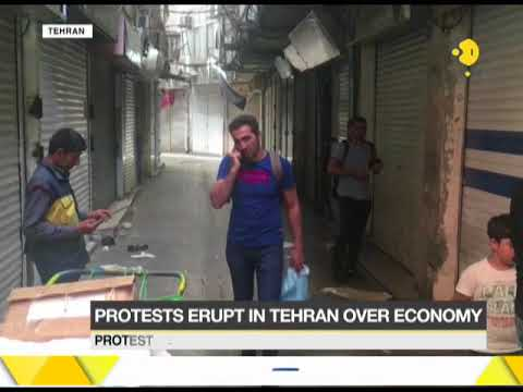 Protests erupt in Tehran as Iranian economy takes a nose-dive