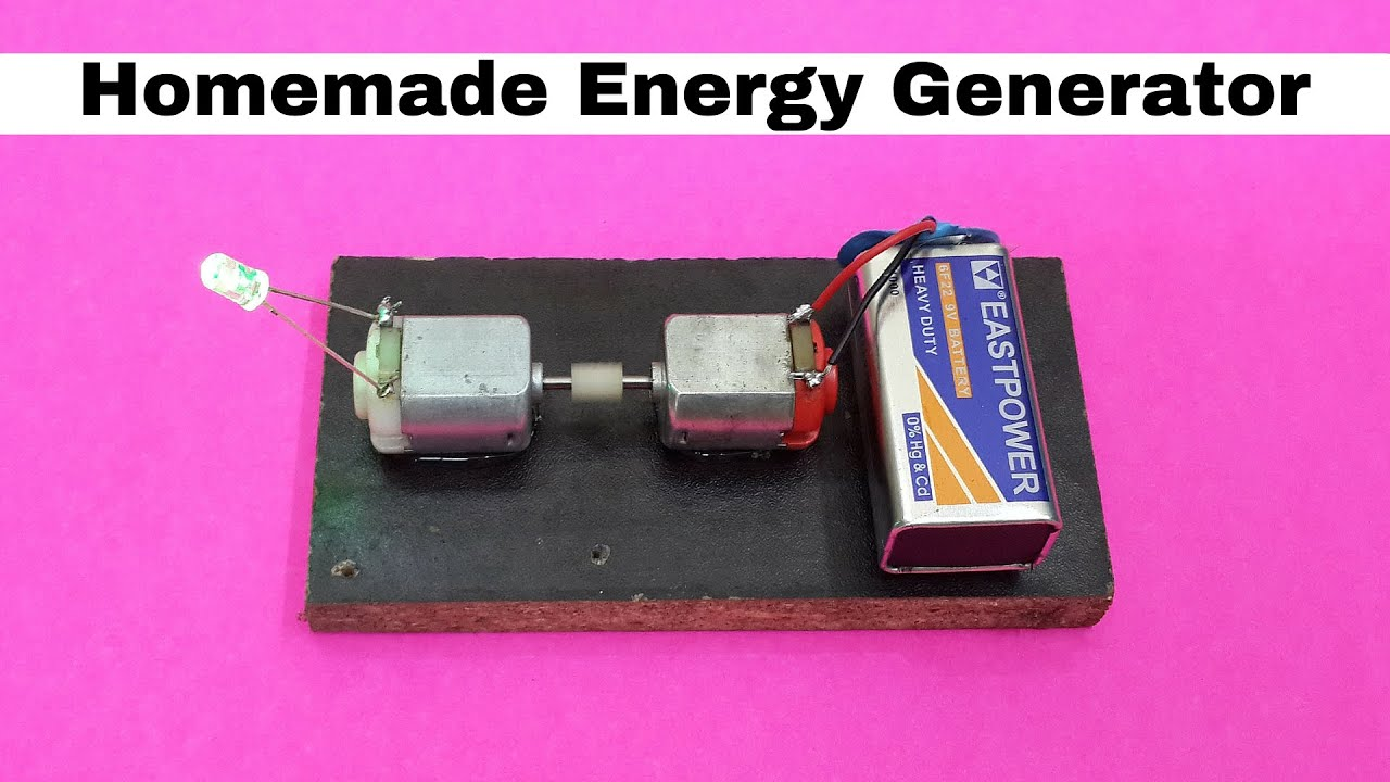 How To Make Homemade Mini Energy Generator Using Dc Motors Youtube