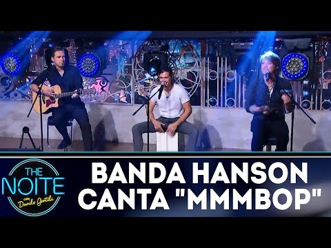 "Retrospectiva 2017: Banda Hanson canta ""MMBOP""| The Noite (19/02/18)"
