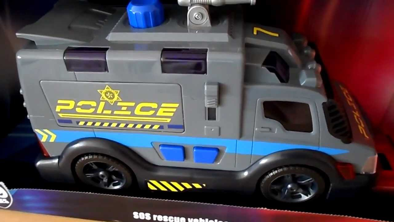 Dickie Simba Police Force Water Cannon Toy Truck Sounds