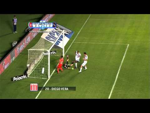 Gol de Vera. Estudiantes LP 2 - Independiente 0. Octavos de final. Copa Argentina 2013/14. FPT
