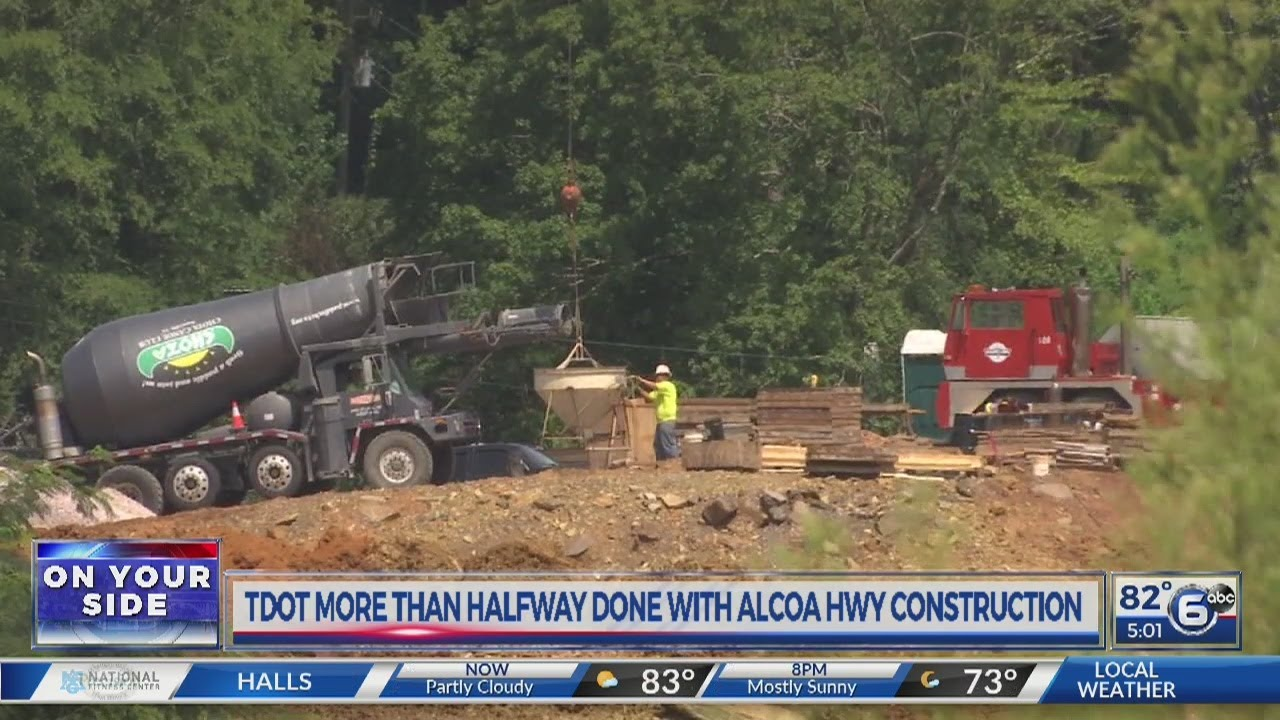 TDOT more than halfway done with Alcoa Highway construction