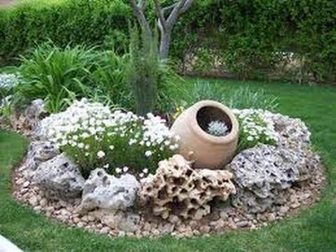 Como decorar jardines con piedras youtube for Jardines decorados con piedras