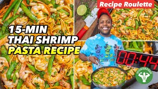 Recipe Roulette - 15 min Thai Shrimp Pasta Recipe