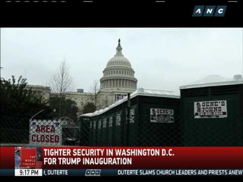 Security tighter in Washington D.C. for Trump inauguration