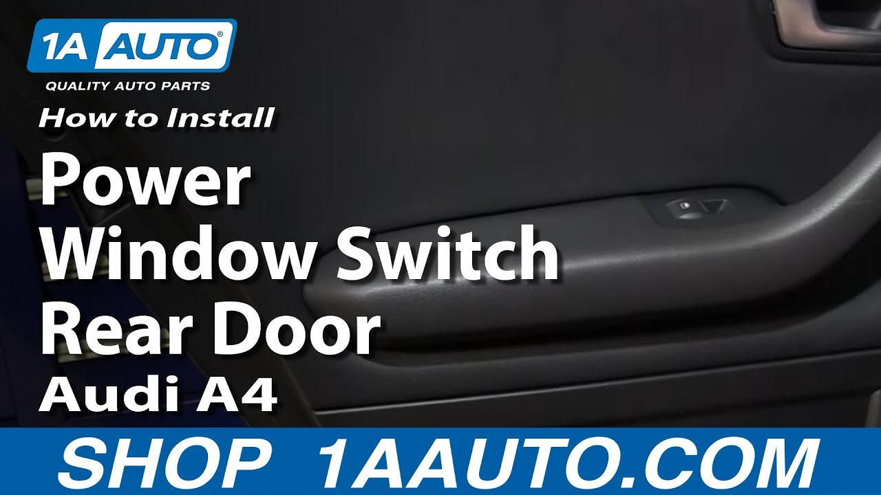 How To Install Replace Power Window Switch Rear Door 2002