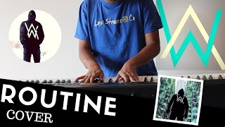 Alan Walker x David Whistle - Routine - Piano 🎹 | somanshu