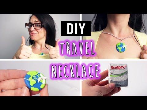 DIY Polymer Clay Travel Necklace
