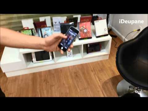 iPhone 5s teste de queda com película de vidro